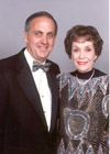 Jane Wyman with Humanitarian award recipient David Green at the 1998 'Commitment to a Cure' gala.