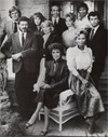 Jane with the cast of Falcon Crest (1984)