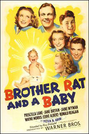 brother rat and a baby jane wyman posters movie