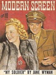 Modern Screen Magazine cover with Jane Wyman and Ronald Reagan