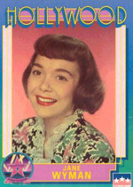 Jane Wyman, Hollywood card