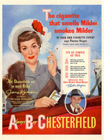 1950 Chesterfield ad